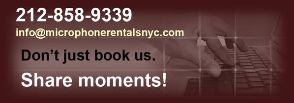 Microphone Rentals NYC rent mixers, wirred microphones TVs monitors, computers
