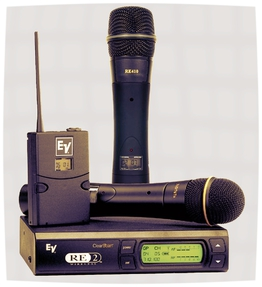 Use electro voice wireless microphone for New York microphone rental.