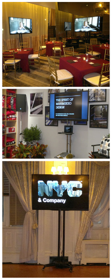 AV services, corporate AV, PC rentals, video wall rentals, iPad rentals, trade show equipment rental  at AV NYC.
